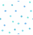 Blue dots seamless pattern vector image