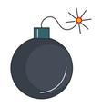 explosive bomb isolated icon vector image