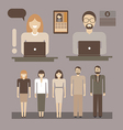 office infographic people vector image