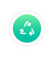 recycle icon sign vector image