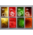 Set of abstract brochures in poligonal style vector image