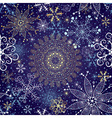 Christmas dark blue seamless pattern vector image