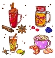 Warm Drinks Icon Set vector image