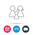 Family icon Male female and child sign vector image