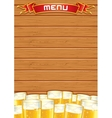 Blank Pub Menu Wooden Background vector image vector image