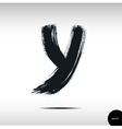 Calligraphic watercolor letter Y vector image