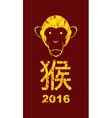2016 year fire monkeys on Asian calendar Happy new vector image