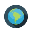 Flat Design Concept Globe Icon With Long Sha vector image