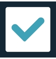 Yes flat blue and white colors rounded button vector image