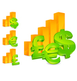business with money signs vector image vector image