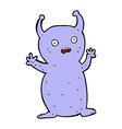 comic cartoon funny little alien vector image