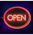 Vintage neon sign Open vector image