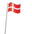Danish flag vector image vector image