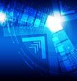 digital concept technology background vector image