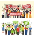 Political And Ecological Demonstrations Horizontal vector image