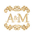 AM vintage initials logo symbol Letters A M vector image
