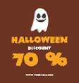 big sale halloween poster design collection vector image