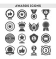 champion awards of different shape icons set vector image