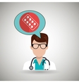doctor stethoscope glass medicine vector image