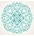Graphic round ornament with sea shells vector image