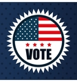 icon flag vote usa election graphic vector image