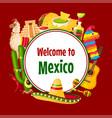mexican poster cinco de mayo 5 may holiday vector image
