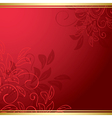 red floral card vector image