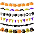 Set of Halloween buntings vector image