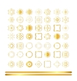 Traditional golden decor vector image