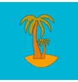 Palm sign pattern 2 vector image