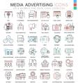 Media advertising ultra modern color vector image