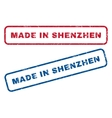 Made In Shenzhen Rubber Stamps vector image