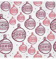Merry Christmas bauble seamless pattern background vector image