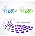 Abstract colored objects vector image