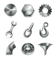 Industry set of icons vector image vector image
