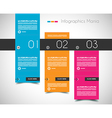 Infographic design template with flat design vector image
