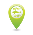 shark sighting sign on green map pointer vector image