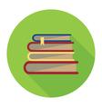 books badge vector image
