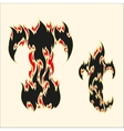 Fiery font Letter T on white vector image