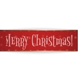 Realistic red bend paper Christmas Ribbon vector image vector image