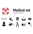 Medical set 11 symbols of health and medicine vector image
