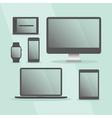 Modern Digital Devices set with black frames vector image