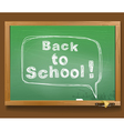 message in a speech cloud Back to school vector image vector image
