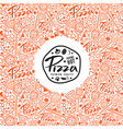 Stock pizza cover for boxes vector image
