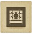 prisoner in jail justice symbol old background vector image vector image