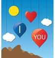 cloud love baloon vector image