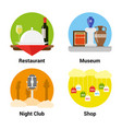 flat style entertainment icons vector image