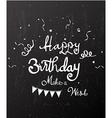 Happy birthday on chalkboard vector image