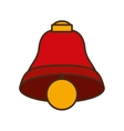 merry christmas bell isolated icon vector image