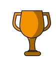 trophy cup award icon vector image